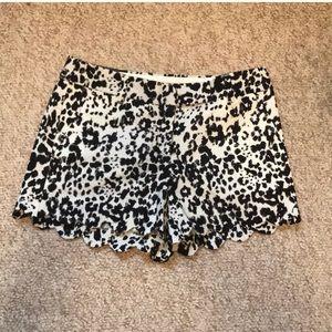"J Crew scalloped shorts. 4"""